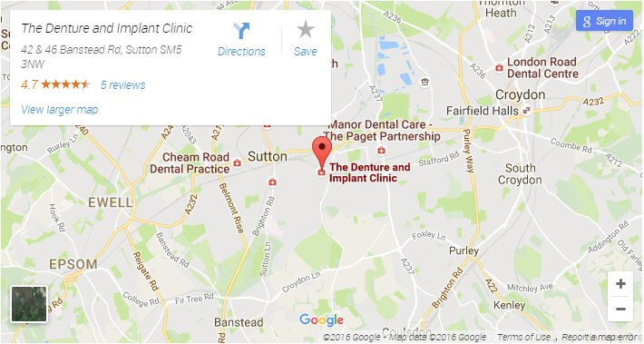 Map for The Denture & Implant Clinic