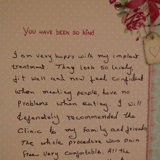 Handwritten 36th Testimonial on The Denture & Implant Clinic